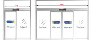 Automatic sliding door width