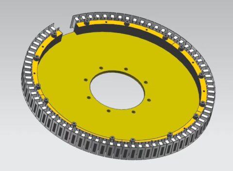 linear magnetic drive revolving door