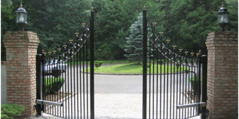 Electric swing gate opener systems