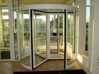 3 wing automatic revolving door