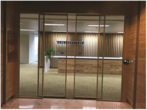 electric sliding door for office