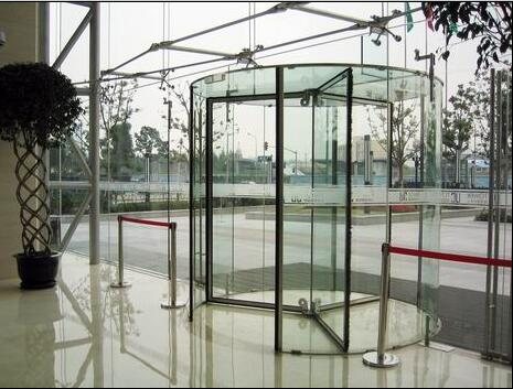 Full glass automatic revolving door