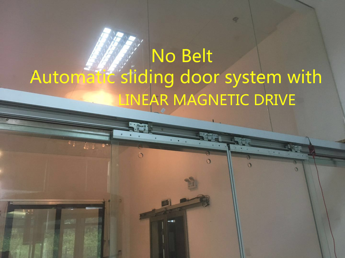 Linear Magnetic Drive Automatic Sliding Door System China Maglev